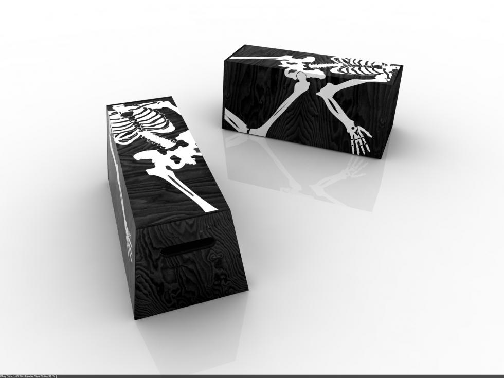 banco con esqueleto aplicado